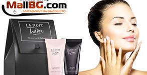 Дамски комплект Lancome Trеsor La Nuit с парфюмен лосион за тяло и душ гел