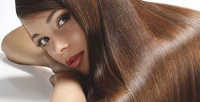 Боядисване на коса с боя Keune, плюс подстригване и прическа със сешоар или плитка
