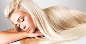 Терапия за коса с продукти на Brelil, биоламиниране с UV преса и оформяне на прическа