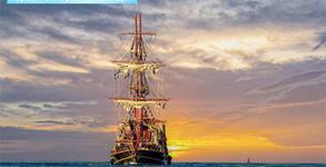 50-минутен пиратски круиз с кораб-ресторант Посейдон в Созополския залив - за един възрастен и едно дете от 4 до 12г