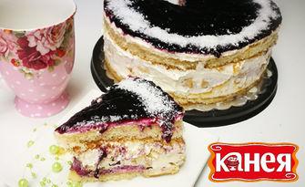 Сладко изкушение! Торта по избор - еклерова или бисквитена, от Канея