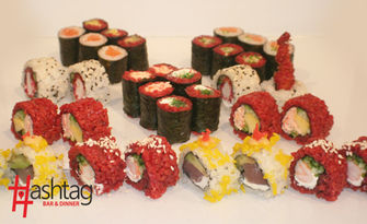 Екзотична кухня! Суши сет с 20 или 34 хапки, от Hashtag Bar & Dinner