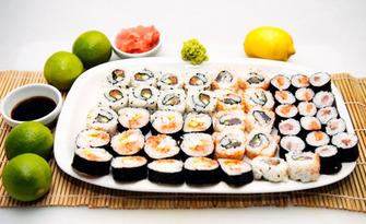 Вземете за вкъщи суши сет по избор - с 36, 56 или 76 хапки, от Sushi Zone Bg