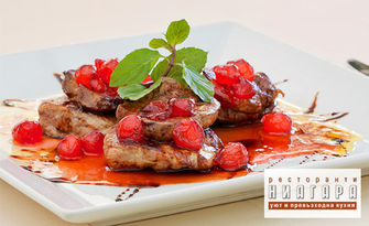 Пиле по градинарски, талиатели Карбонара или телешки кюфтенца с гарнитура, от Ресторант Ниагара