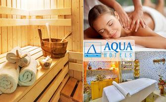 Поглези се със SPA релакс! Ползване на басейн, финландска сауна, парна баня и фитнес, от Хотел Аква***