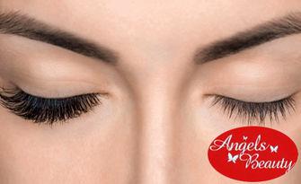 """Поставяне на мигли по метода """"косъм по косъм"""", от Angels Beauty Salon"""