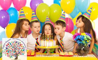 Детски рожден ден! 2 часа парти за до 10, 15 или 20 деца, с наем на зала, аниматор, почерпка и украса, от Английска занималня АВС
