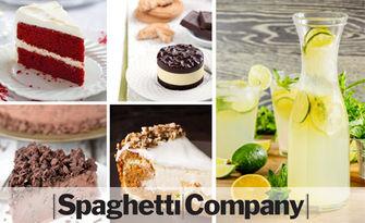 Сладоледен десерт по избор, плюс домашна лимонада, сироп или студен чай, от Spaghetti Company