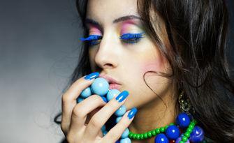Цветни нокти! Маникюр с гел лак Bluesky, плюс 2 декорации, от Eстетичен център J'adore