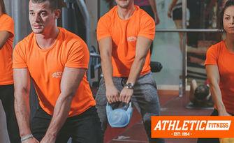 Седмична карта с неограничен брой посещения на фитнес и сауна, от Атлетик Фитнес