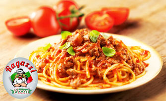 Вкусно хапване! Салата и спагети, по избор, от Пицария Рагаци