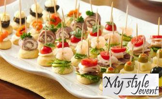За вашето парти! Плато с 90 или 120 коктейлни хапки - с безплатна доставка, от My Style Event