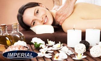60 минути релакс! Римски спортен масаж на цяло тяло с билкови масла и масаж на глава, от Масажно студио Imperial