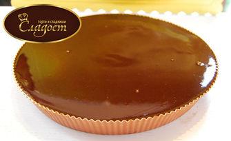 Разкош от белгийски шоколад! Шоколадова пита в луксозна опаковка, от Сладкарница Сладост