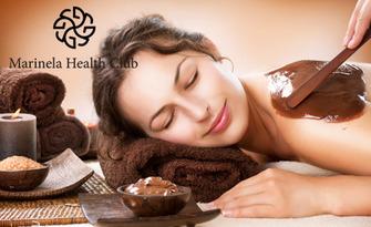 Шоколадов масаж на цяло тяло, плюс цял ден ползване на басейн и сауна, от Marinela Health Club