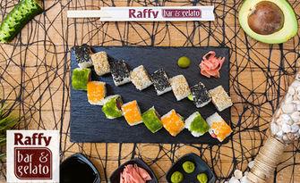 Вкус от Изтока! Суши сет с 16 или 26 хапки, от Raffy Bar & Gelato
