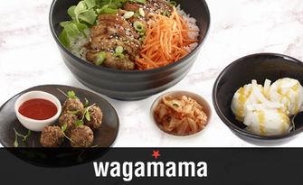 Азиатска кухня! Тристепенно донбури меню с онигири с гъби, терияки донбури с пиле и рейка кокос, от wagamama