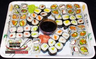 Екзотично хапване за компанията! Суши сет с 64, 76, 80 или 100 хапки, от Суши Маркет