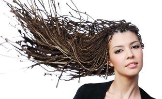 Африкански плитки с прежда на цяла коса, от Салон за красота Шени Стил