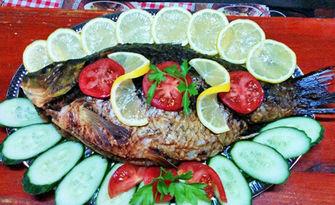 Пресен цял шаран - пържен или на скара (около 2кг), от Рибен ресторант Наслука