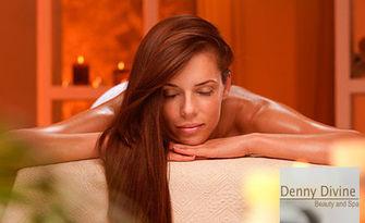 """80 минути SPA релакс! Комбиниран масаж на цяло тяло, плюс терапия """"Ягоди и шампанско"""", от Салон за красота Denny Divine"""