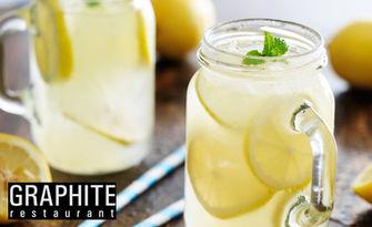 Домашна плодова лимонада с вкус по избор, плюс кафе, от Ресторант Графит