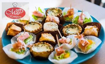 За вашето вкусно парти! 75 или 150 броя коктейлни хапки, от Мечо Фууд & Кетъринг