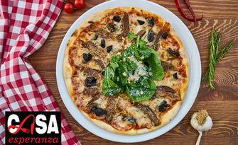 Хрупкава пица по избор, от Bar & Dinner Casa Esperanza в ТЦ Надежда