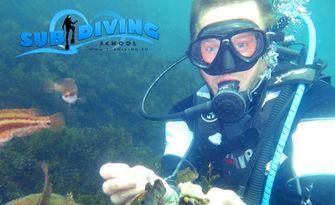 Подводно приключение край Созопол! Водолазнo гмуркане за начинаещи с обучение от военен водолаз, плюс видеозаснемане, от Sub Diving
