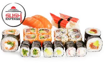 Екзотичен вкус! Суши сет с 16, 30, 48 или 101 хапки, от Sushi Express