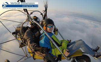 Високо в облаците! Тандемен полет с моторен парапланер, плюс бонус - HD видеозаснемане, от Vertical Dimension