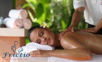 70 минути релакс! Болкоуспокояващ Шиацу масаж на цяло тяло с билкови масла, плюс масаж на глава и рефлексотерапия, от Frictio