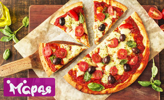 Избери си голяма пица с домашно тесто с масло, от Комплекс Марая