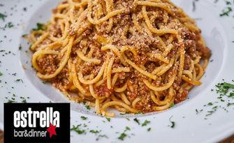 Апетитно изкушение за двама! 2 порции прясна паста, по избор, от Estrella Bar & Dinner