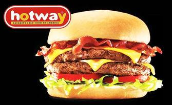 Предпочитан вкус! 2 броя двоен пилешки бургер и 2 айряна, от Hotway