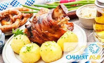Хапване в центъра на София! Филе от пъстърва, зеленчуково конкасе и чаша вино, или свински джолан, печен картоф и чаша бира