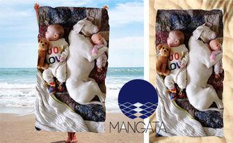 Плажна кърпа с щампа и размер по избор, от Mangata.bg