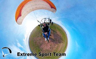 Издигни се във въздуха край София! Тандемен полет с двуместен парапланер, плюс заснемане с 4K Action камера, от Extreme Sport