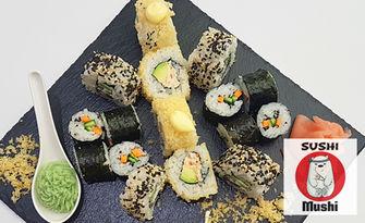 Вкусна екзотична кухня! Суши сет с 16 броя хапки, от Sushi Mushi