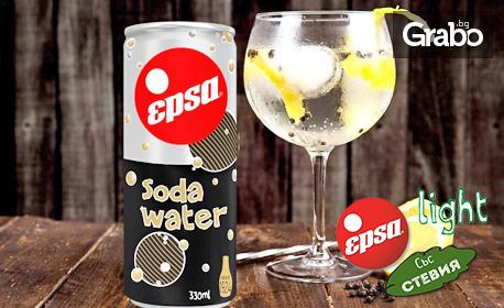 Газирана вода със сода бикарбонат - 8 броя по 330мл