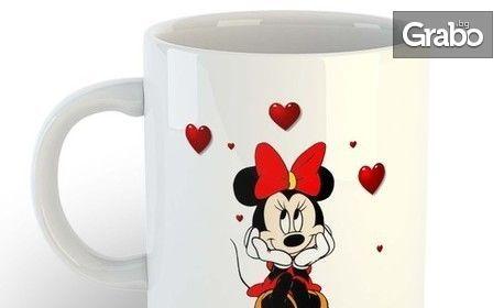 Порцеланова чаша със снимка или послание на клиента