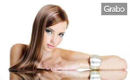Красива коса! Измиване и подстригване, парти прическа или терапия с UV преса