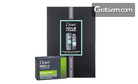 Комплект Dove Men + Care Clean Comfort с душ гел, дезодорант и крем-сапун за лице