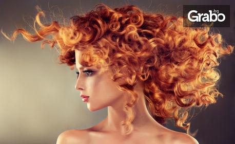 SOS терапия за увредена коса, плюс сешоар, или боядисване с професионална боя Elgon или Bioetika и добавка Luminoil