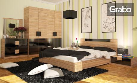 Комплект спалня, гардероб и 2 нощни шкафчета - за 480лв
