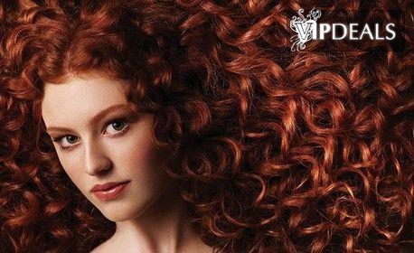 Боядисване на коса в червени и медни нюанси с боя Alfaparf Milano, плюс подстригване