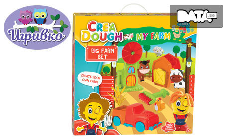 Детски комплект с моделин Crea Dough - тема по избор
