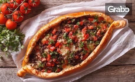 Лахмаджун със зелена салата и лимон, пиде с кайма или пица
