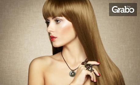 Маникюр с гел лак с 2 декорации, или терапия за коса с продукти Milk Shake и подстригване, или и двете