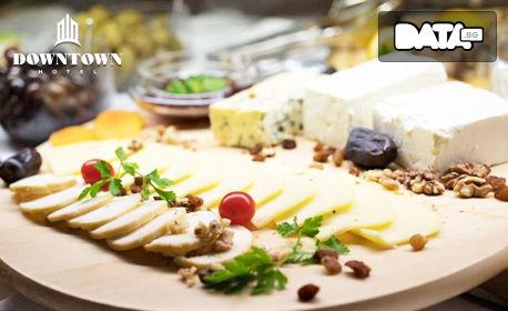 Куверт за Никулден - за консумация на място или за вкъщи! Салата, порция пълнен шаран, десерт и чаша вино